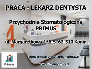 Praca - Lekarz dentysta - Konin